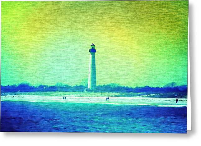 Lighthouse By The Sea Greeting Cards - By The Sea - Cape May Lighthouse Greeting Card by Bill Cannon