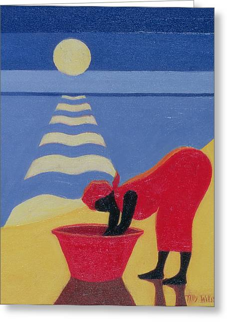 By The Sea Shore Greeting Card by Tilly Willis