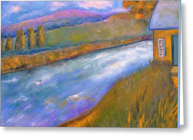 Faa Featured Greeting Cards - By The Stream Greeting Card by Marla McPherson