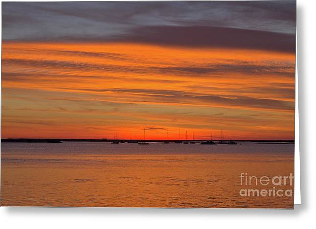 Outdoor Greeting Cards - Bye sunset Greeting Card by Angelo DeVal
