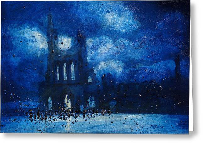 Neil Mcbride Greeting Cards - Byland Abbey Gathering Greeting Card by Neil McBride