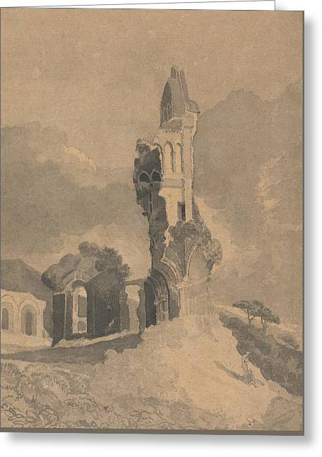Byland Abbey, Yorkshire Greeting Card by John Sell Cotman