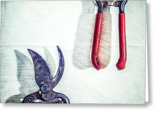 Chrome Handles Greeting Cards - Bypass Pruners Greeting Card by Yo Pedro