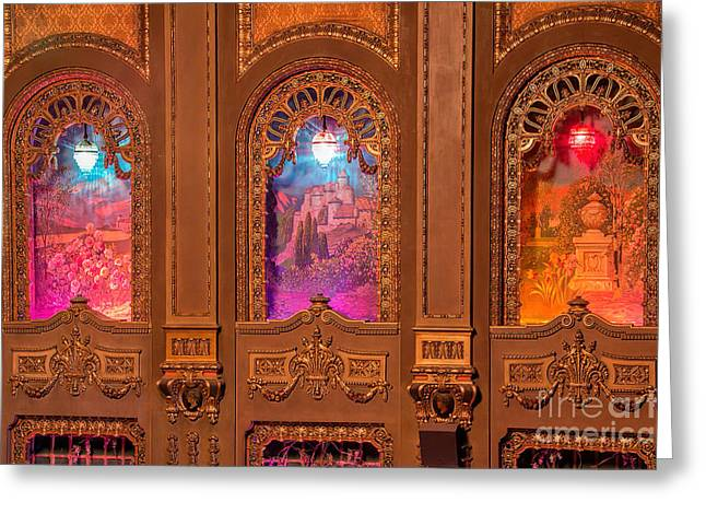 Architectural Treasure Greeting Cards - Byrd Theater Alcoves Greeting Card by Jemmy Archer