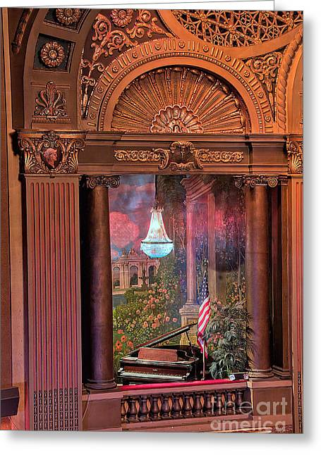 Architectural Treasure Greeting Cards - Byrd Theater Piano Opera Box Greeting Card by Jemmy Archer