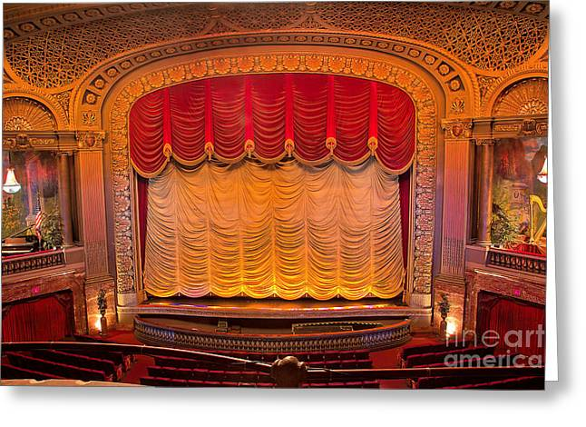 Architectural Treasure Greeting Cards - Byrd Theater Stage Greeting Card by Jemmy Archer