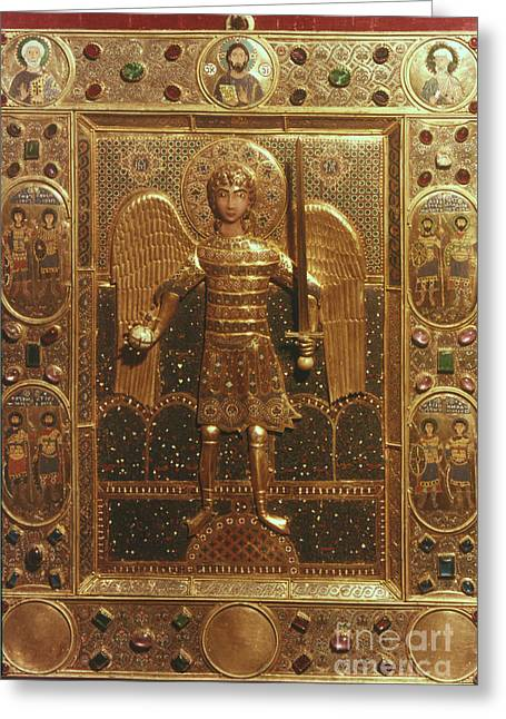 Icon Byzantine Greeting Cards - Byzantine Art: St. Michael Greeting Card by Granger