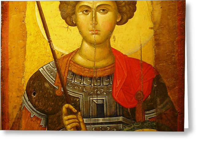 Byzantine Knight Greeting Card by Ellen Henneke