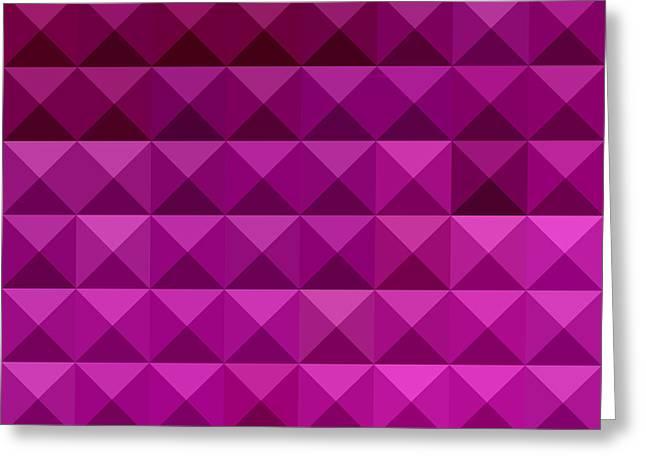 Byzantine Digital Greeting Cards - Byzantine Purple Abstract Low Polygon Background Greeting Card by Aloysius Patrimonio