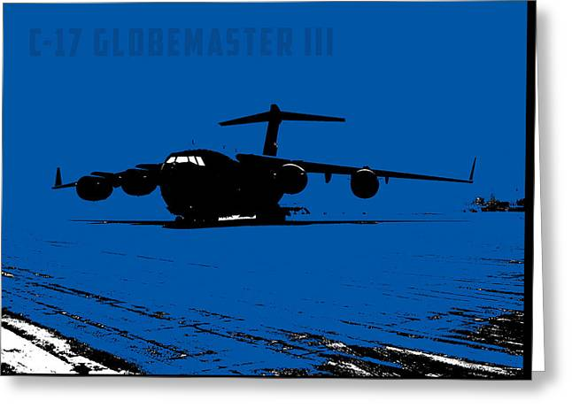 Iraq Prints Greeting Cards - C-17 Globemaster III Greeting Card by John Bainter