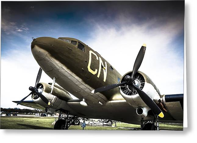 Nostaligic Greeting Cards - C-47D Skytrain Greeting Card by Debra Forand