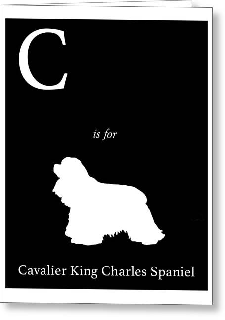 Spaniel Greeting Cards - C is for Cavalier King Charles Spaniel Greeting Card by Michelle O