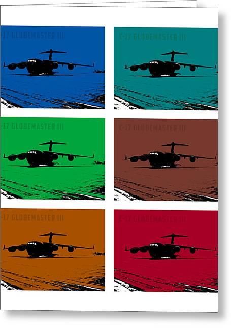 Iraq Prints Greeting Cards - C17 Globemaster III  Greeting Card by John Bainter