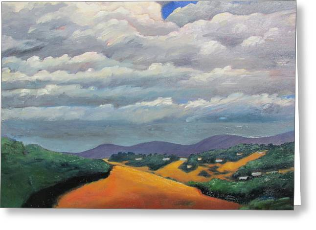 Ca Cloudscape Greeting Card by Gary Coleman