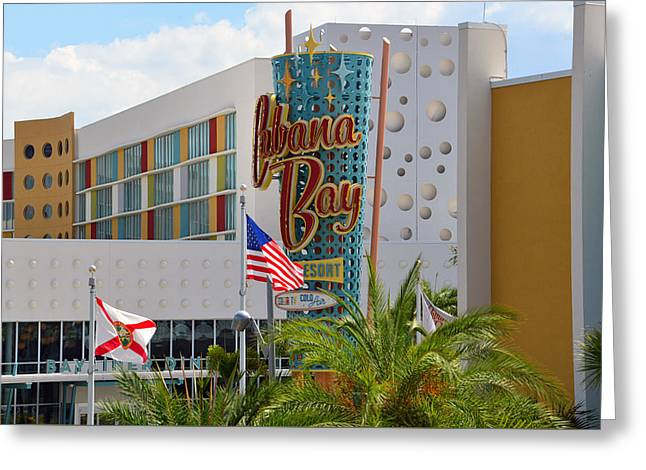 Cabana Greeting Cards - Cabana Bay Architecture Greeting Card by David Lee Thompson