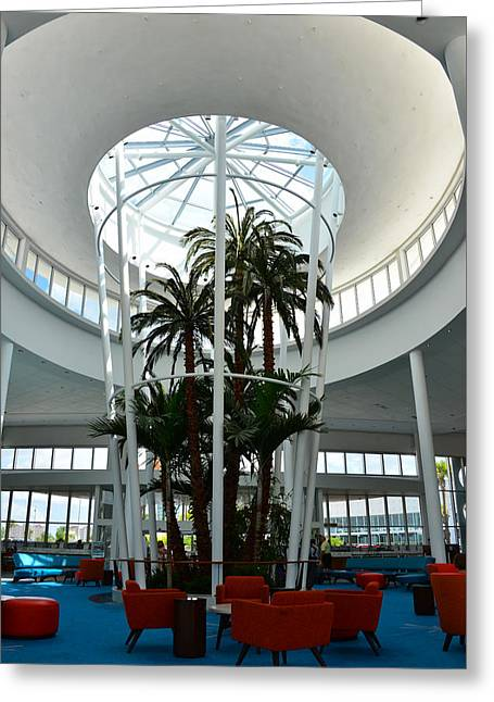 Cabanas Greeting Cards - Cabana Bay Beach Resort lobby Greeting Card by David Lee Thompson