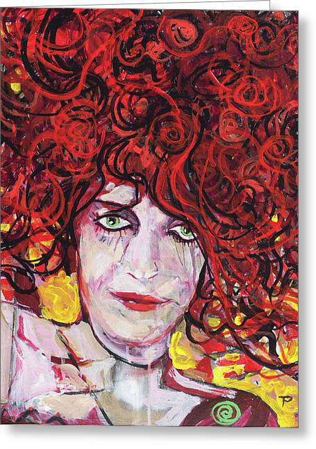 Burlesque Paintings Greeting Cards - Cabaret Greeting Card by Todd  Peterson