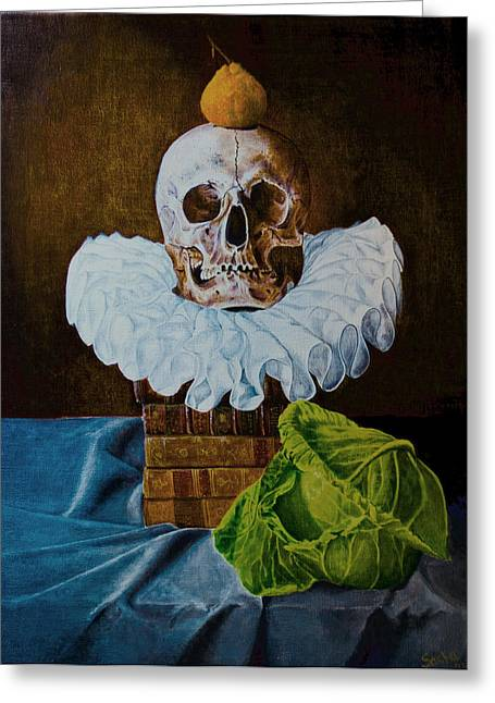 Tangerines Greeting Cards - Cabbages and Kings Greeting Card by Alexandra Latypova
