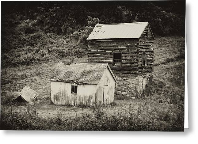 Tin Roof Greeting Cards - Cabin and Toolshed Greeting Card by Hugh Smith
