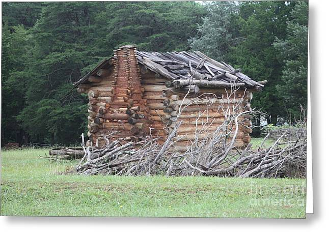 Log Cabins Greeting Cards - cabin at Fort Dobbs Greeting Card by Chuck  Hicks