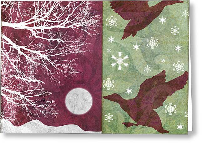 Christmas Art Greeting Cards - Cabin Christmas IV Greeting Card by Mindy Sommers