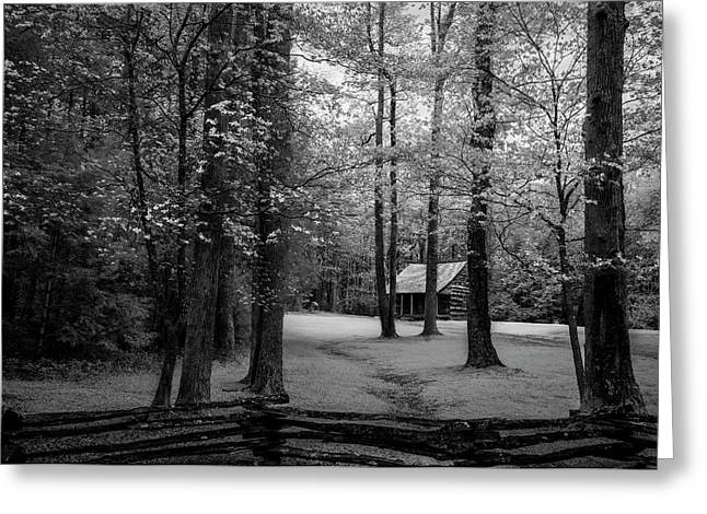 Cabin In Cades Cove Greeting Card by Jon Glaser