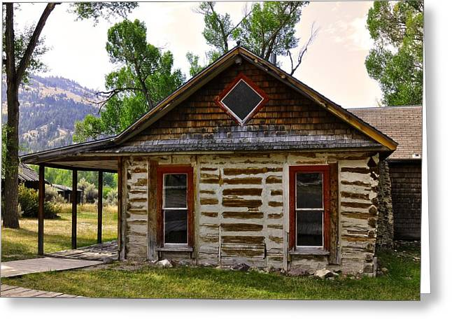 ist Photographs Greeting Cards - Cabin In Red Greeting Card by Image Takers Photography LLC - Laura Morgan