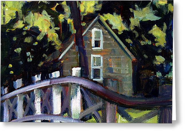 Log Cabins Greeting Cards - Cabin in the Woods Greeting Card by Charlie Spear