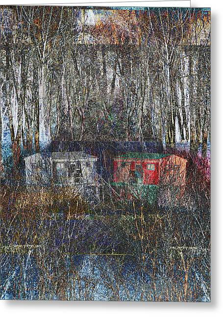 Hunting Cabin Digital Art Greeting Cards - Cabin Recluse Greeting Card by Jade Knights