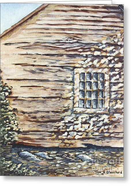 Cabin Window Greeting Cards - Cabin Window Greeting Card by Todd A Blanchard