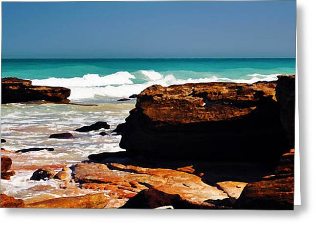 Seaside Digital Greeting Cards - Cable Beach Broome Greeting Card by Phill Petrovic