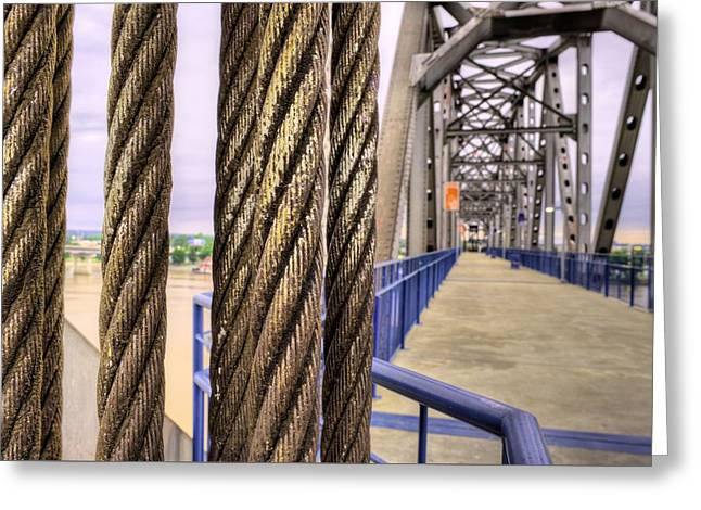 Little Rock Arkansas Greeting Cards - Cables and Pulleys Greeting Card by JC Findley