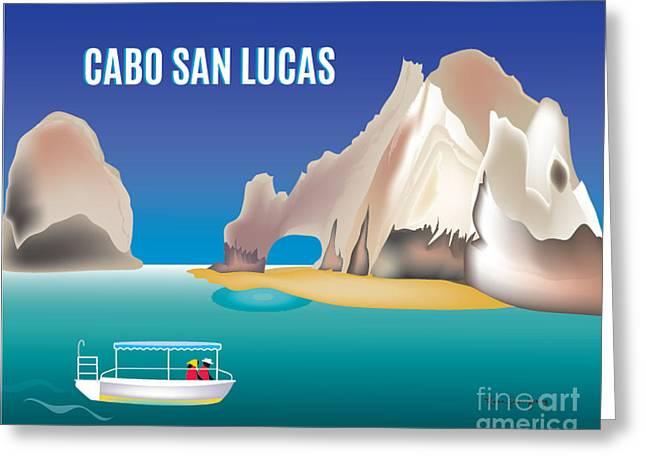 Cabo San Lucas Greeting Cards - Cabo San Lucas Horizontal Wall Art By Loose Petals Greeting Card by Karen Young