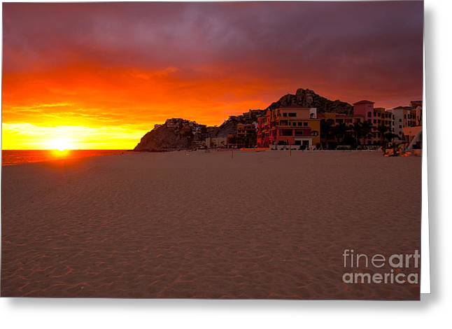 Cabo San Lucas Greeting Cards - Cabo sunset Greeting Card by Ryan Burton
