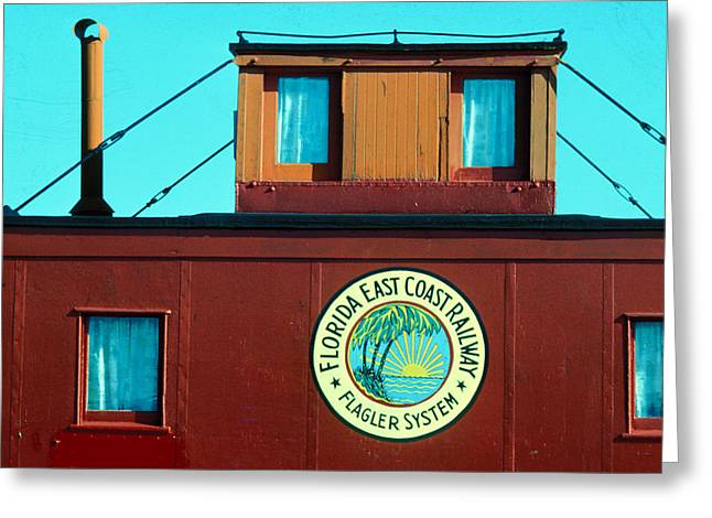 Caboose Greeting Cards - Caboose Greeting Card by Carl Purcell