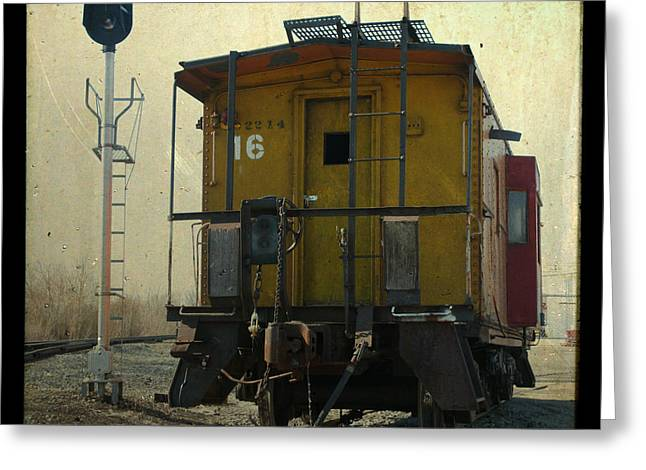 Caboose Greeting Cards - Caboose Greeting Card by Joel Witmeyer