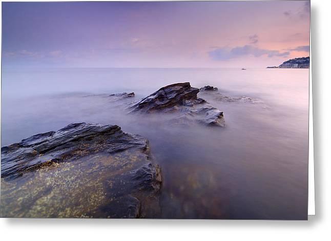 Beach Greeting Cards - Cabria beach Greeting Card by Guido Montanes Castillo