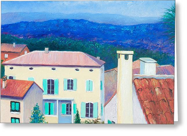 Lounge Paintings Greeting Cards - Cabries - Aix-en-Provence France Greeting Card by Jan Matson