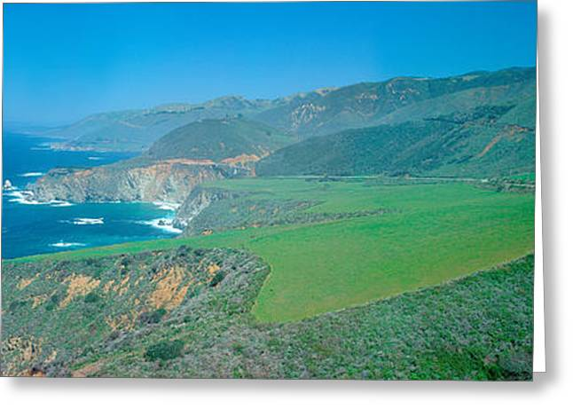 Cabrillo Highway On The California Greeting Card by Panoramic Images