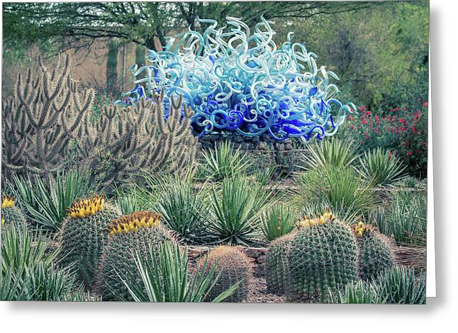 Cactus Art Greeting Card by Pete Mecozzi