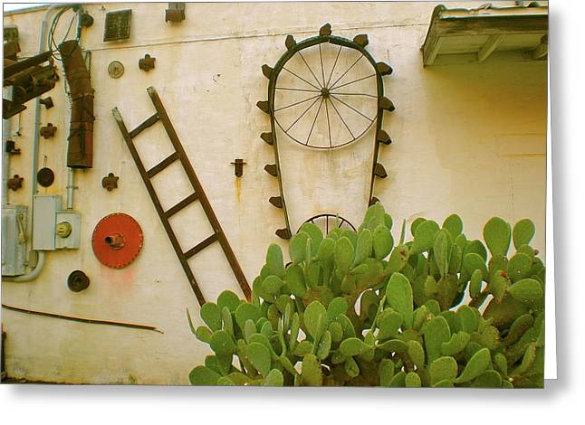 Feed Mill Cafe Greeting Cards - Cactus Greeting Card by Sheep McTavish