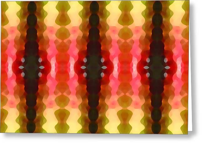 Cactus Vibrations 2 Greeting Card by Amy Vangsgard