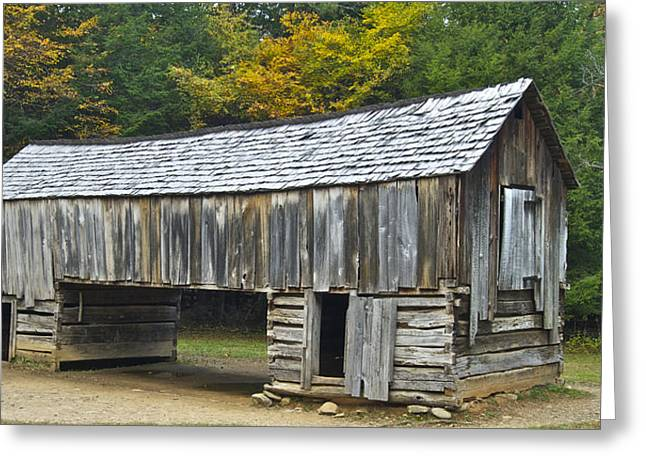Historical Buildings Greeting Cards - Cades Cove Barn Greeting Card by Michael Peychich