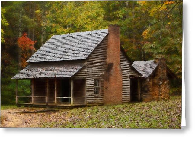Tennessee Farm Greeting Cards - Cades Cove Cabin Greeting Card by Jonas Wingfield