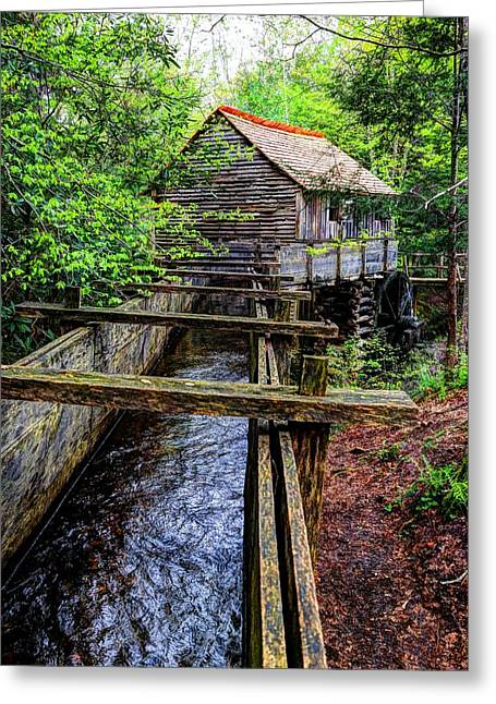 Grist Mill Greeting Cards - Cades Cove Grist Mill In The Great Smoky Mountains National Park  Greeting Card by Carol R Montoya