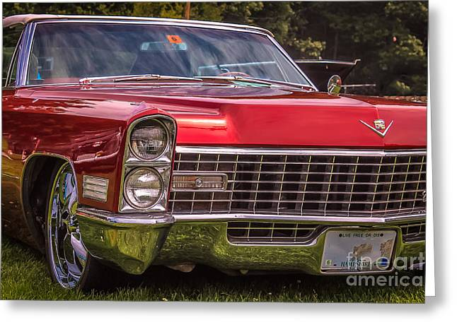 Rally Greeting Cards - Cadillac - 1965 Greeting Card by Claudia Mottram