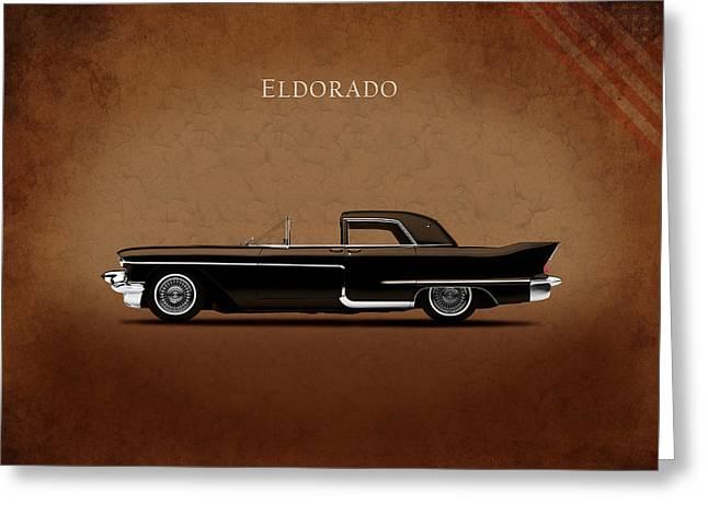 Cadillac Greeting Cards - Cadillac Eldorado 1956 Greeting Card by Mark Rogan