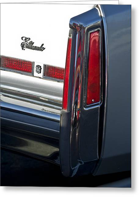 Cadillac Greeting Cards - Cadillac Eldorado Taillights 3 Greeting Card by Jill Reger