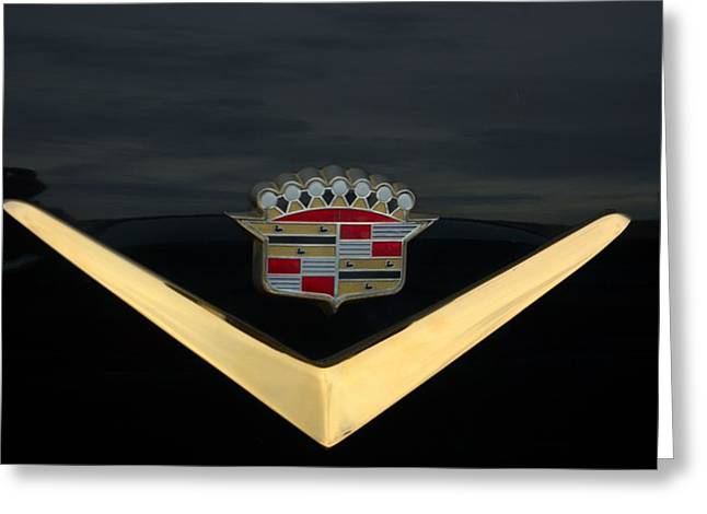 Teemack Greeting Cards - Cadillac Hood Emblem Greeting Card by Tim McCullough