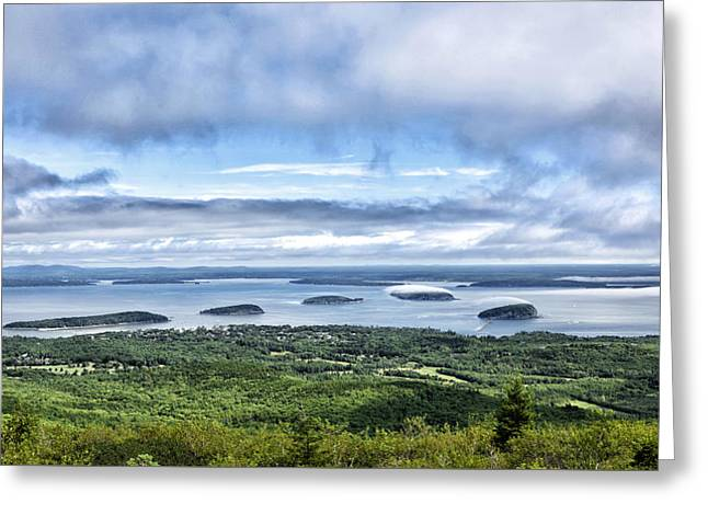Park Scene Greeting Cards - Cadillac Mountain View - Acadia National Park Greeting Card by Brendan Reals